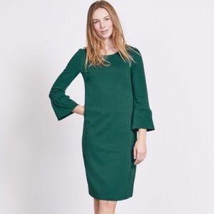 Boden Forest Green Bell Sleeve Dress 12